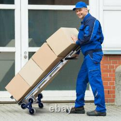 Costway 2 In 1 Hand Truck Stair Climber Hand Truck Aluminum Cart Dolly 550Lbs