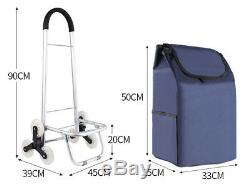 D177 Rugged Aluminium Luggage Trolley Hand Truck Folding Foldable Shopping Cart