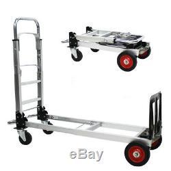 D23 Rugged Aluminium Luggage Trolley Hand Truck Folding Foldable Shopping Cart