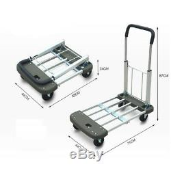 D28 Rugged Aluminium Luggage Trolley Hand Truck Folding Foldable Shopping Cart