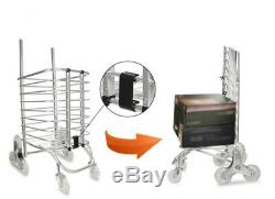 D68 Rugged Aluminium Luggage Trolley Hand Truck Folding Foldable Shopping Cart