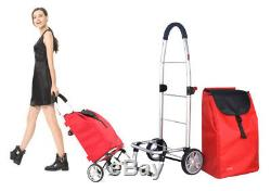D93 Rugged Aluminium Luggage Trolley Hand Truck Folding Foldable Shopping Cart