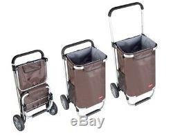D96 Rugged Aluminium Luggage Trolley Hand Truck Folding Foldable Shopping Cart