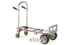 DOLLY / HAND TRUCK Convertible to Platform Aluminum 500 Lb Capacity 51H M MF