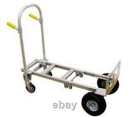 DOLLY / HAND TRUCK Convertible to Platform Aluminum 500 Lb Capacity 52H W NF