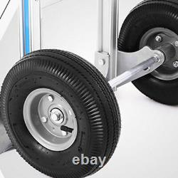 Foldable 3 in 1 Aluminum Convertible Hand Truck 2 Wheel Trolley 4 Wheel Cart USA