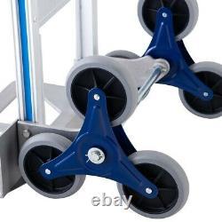Folding Hand Truck Stair Climber Hand Truck Aluminum Cart Dolly Moving 2 Wheel