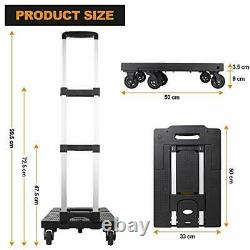 Folding Luggage Cart with 330 Lb Capacity, Portable Aluminum Hand Truck and