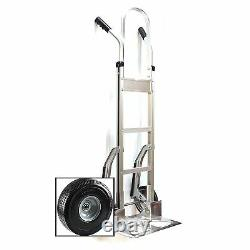 HTA-14-006 Aluminum Hand Truck, Full Assembled without Wheels, Flat Free Wheels