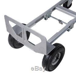 Hand Truck Aluminum Hand Truck 770LBS Convertible Hand Truck Foldable UPS