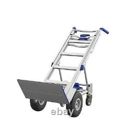 Hand Truck Convertible Heavy Duty 3 In 1 Moving Dolly Aluminum 4 Wheel Cart