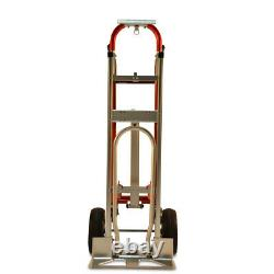 Hand Truck Convertible Position Steel Aluminum 1000lb Capacity Puncture Proof