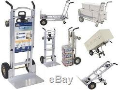 Hand Truck Dollies Convertible Aluminum Heavy Duty Folding Utility Pallet Cart