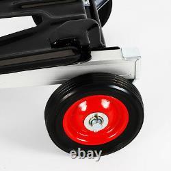 Hand Truck Dolly 2 In 1 Convertible Aluminum Hand Truck Cart 4 Wheel Heavy Duty
