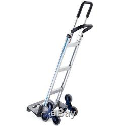 Hand Truck Foldable 2-in-1 550 Lbs Stair Heavy Duty Aluminum Climbing Cart Dolly