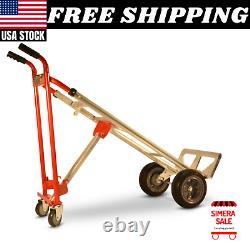 Heavy Duty 1000 lbs Capacity 4 IN 1 Hand Truck Dolly Cart Aluminum Steel Mover