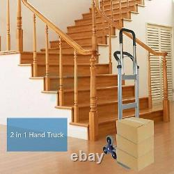 Heavy Duty 2 In 1 550 LBS Capacity Climbing Stairs Hand Truck Aluminium Alloy