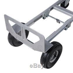 Heavy Duty 2IN1 Aluminum Hand Truck Convertible Fold 2Wheel Dolly 4Wheel Cart US