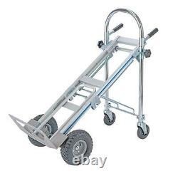 Heavy Duty Aluminum Folding Sack Truck Hand Trolley Garden Cart Portable Trolley