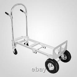 Heavy Duty Aluminum Hand Truck Convertible Folding Dolly Platform Cart 770LBS