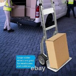 Heavy Duty Aluminum Hand Truck Stair Climbing Cart. Double ergonomic handles