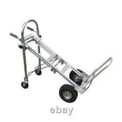Heavy Duty Foldable 3 in 1 Aluminum Hand Truck Dolly Cart Stairs Wheels 770lbs