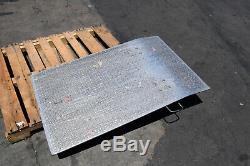 Loading Dock Hand Truck Forklift Ramp Aluminum Diamond 48 x 30 Plate 700 Cap
