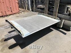 Loading Dock Hand Truck Forklift Ramp Aluminum Diamond Plate