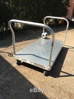 Magliner 60 X 30 Aluminum Diamond Grip Platform Truck Hand Cart with UPGRADES