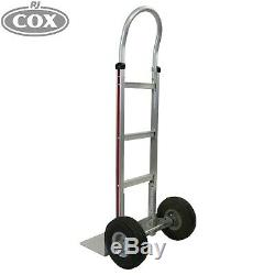 Magliner Aluminium Straight Back Hand Truck with Extruded Nose Pneumatic Wheels