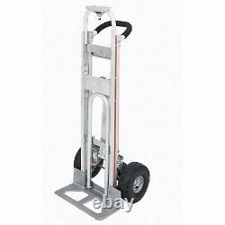 Magliner TPAUA4 3-in-1 Aluminum Hand Truck with 10 Full Pneumatic Wheels
