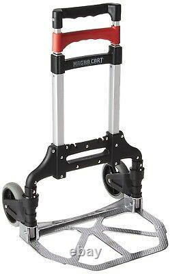 Magna Cart Personal 150 lbs Capacity Aluminum Folding Hand Truck Dolly Black Red