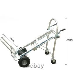Multi-Function 4 Wheel 3 in 1 Aluminum Hand Truck 350kg Convertible Cart Trolley