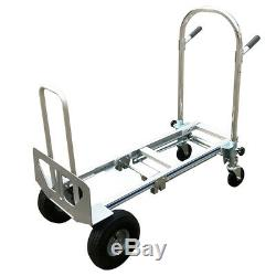 NEW Commercial Grade 3 in 1 Folding Hand Truck Max Capacity 350kg Aluminum Dolly