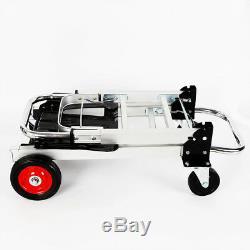 NEW Hand Truck Dolly 2-In-1 Convertible Hand Truck Cart 4 Wheeler Aluminum