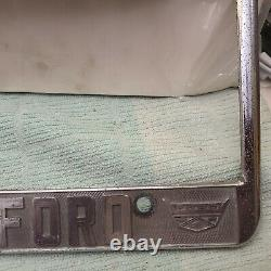 Rare Vintage Los Angeles City Ford Dealer License Mustang Fairlane Galaxie F-150