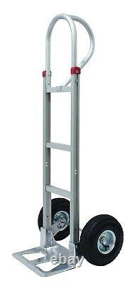 Tyke Supply Commercial Aluminum Hand Truck D Loop handle Solid Tire HS-15