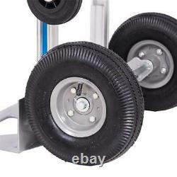 USA 3 in 1 Aluminum Hand Truck Convertible Folding Dolly Platform Cart 770LBS