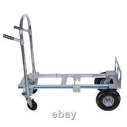 USA Livestock 2-1 Hand Truck T5 Aluminum Alloy Fold Up Hand Truck 770lb Cart CE