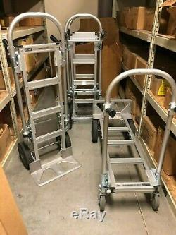 Uline Convertible Jr. Aluminum Hand Truck with Solid Wheels, H-1479