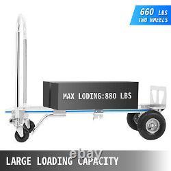 VEVOR 2 in 1 Aluminum Hand Truck / Dolly Utility Cart Heavy Duty 880lbs Capacity