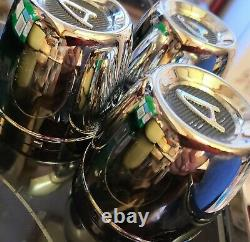 VINTAGE Appliance Wheel Center Caps 2 3/4 center CHROME Metal MOPAR FORD CHEVY