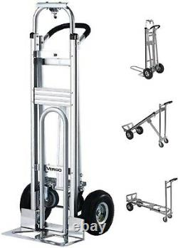 Vergo Industrial AS7A2 Aluminum Convertible 700lb Capacity Hand Truck Dolly Cart
