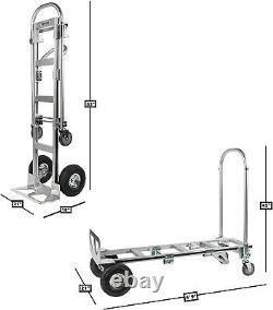 Vergo Industrial AS7B Aluminum Convertible 800lb Capacity Hand Truck Dolly Cart