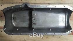 Vintage Cal-Custom SBC Oil Pan left hand dip stick small block aluminum finned