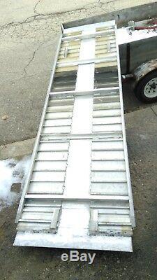Wheel Chair Hand Truck Cart Moving Scooter Construction Van Aluminum Ramp 11'x32