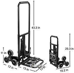 YTFLOT Hand Trucks Stair Climber Cart Heavy Duty 330LB 43.6Inch Adjustable Hand
